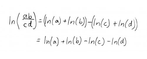 Extended rules of logarithms.